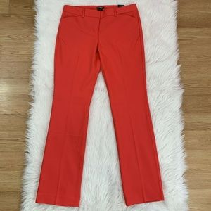EXPRESS RED Coral EDITOR Barely Boot Dress Pants